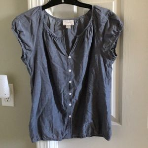Ann Taylor Loft Outlet Chambray Top